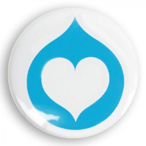 Charitativní připínací placka (button) - NF Kapka naděje