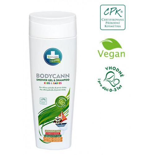 Bodycann shower gel + shampoo kids 250 ml