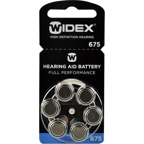 WIDEX 675 baterie do naslouchadel 6 ks