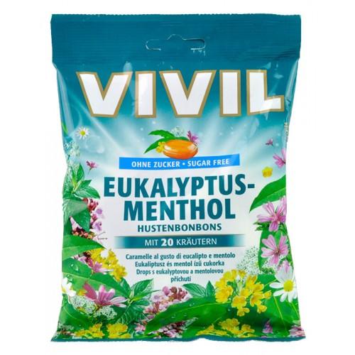 VIVIL bombóny s příchutí eukalyptu, mentolu a bylinek 80 g