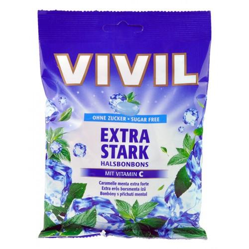 VIVIL bombóny s příchutí mentolu s vitamínem C 80 g
