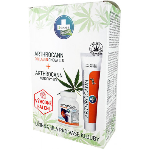 Arthrocann Collagen omega 3-6 60 tbl. + Arthrocann gel 75 ml