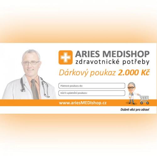 Dárkový poukaz ariesMEDIshop.cz na nákup zboží v hodnotě 2.000 Kč.