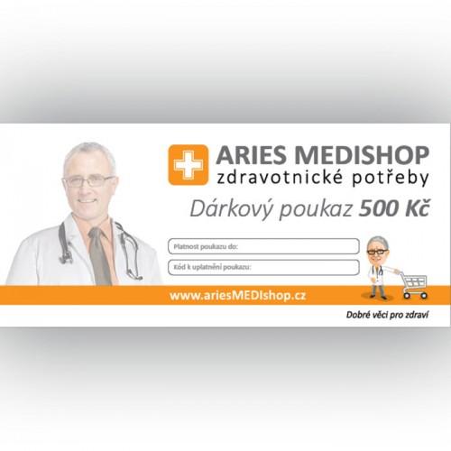 Dárkový poukaz ariesMEDIshop.cz na nákup zboží v hodnotě 500 Kč.