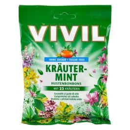 VIVIL bombóny s příchutí bylinek a mentolu 80 g