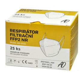 Respirátor FFP2 25 ks