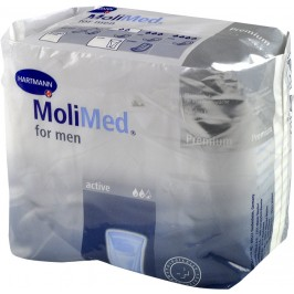 Vložky pro muže Molimed for men Active, 366 ml, 14 ks