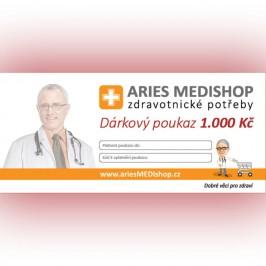 Dárkový poukaz ariesMEDIshop.cz na nákup zboží v hodnotě 1.000 Kč.