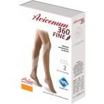 Stehenní punčochy Avicenum 360 FINE, Sanitized, zavřená špice, krajka - box
