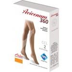 Stehenní punčochy AVICENUM 360 MICRO, Sanitized, otevřená špice, lem -box