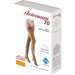 Podpůrné stehenní punčochy Avicenum 70, Sanitized, samodržící krajka - box