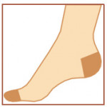 Stehenní punčochy Avicenum 140, Sanitized, samodržící krajka